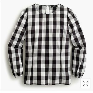 Like New Puff-sleeve gingham top (2019 collection)
